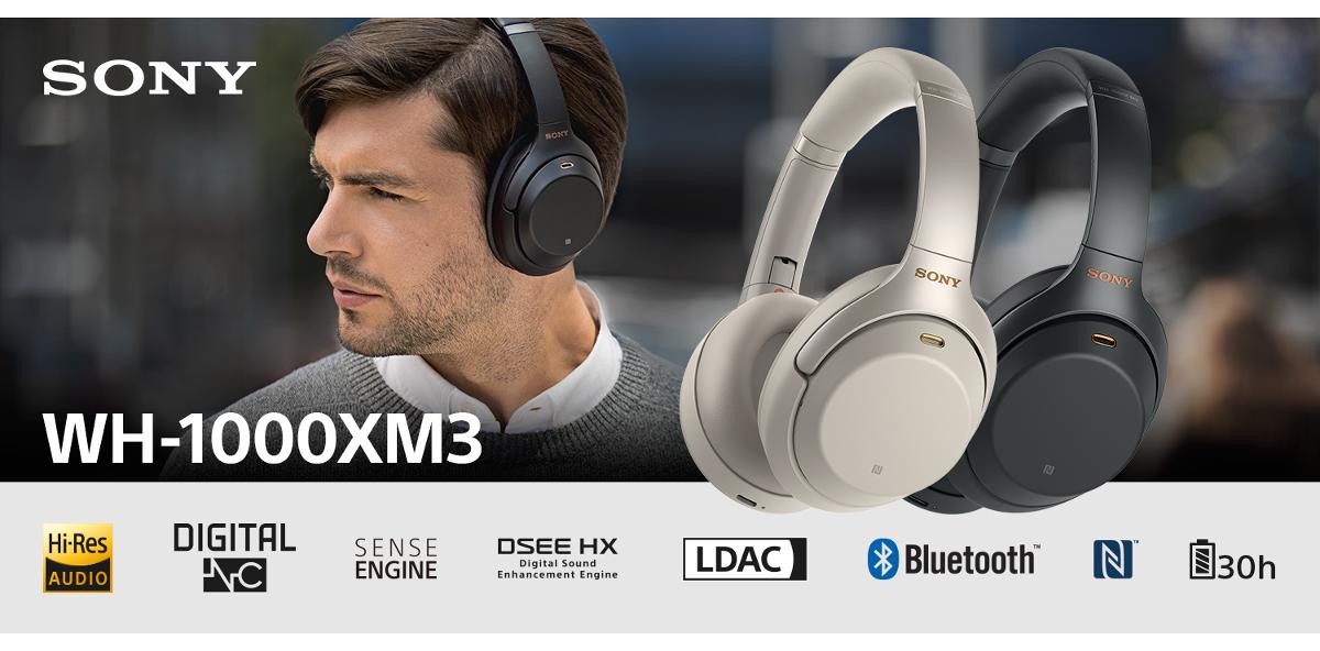 Słuchawki bezprzewodowe SONY WH 1000XM3 Czarny