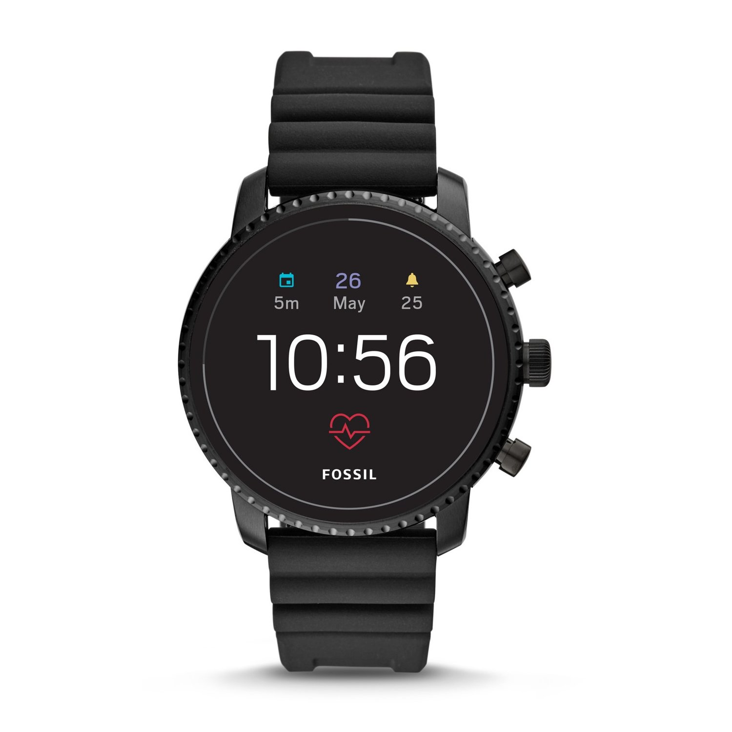 SmartWatch FOSSIL Explorist HR Black Silicone FTW4018