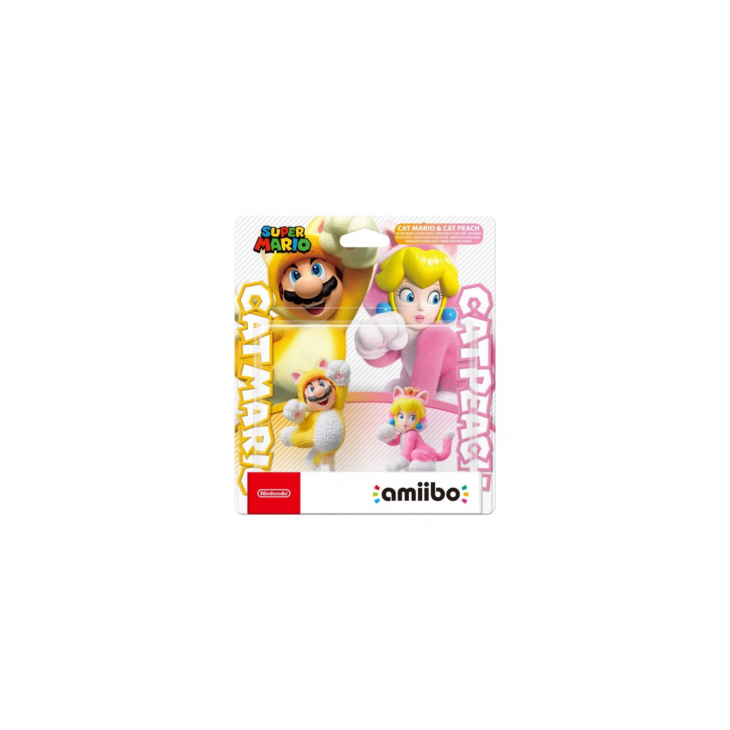 Figurka AMIIBO Smash Cat Mario & Cat Peach