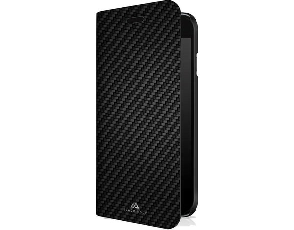 Etui HAMA Black Rock Flex-Carbon Booklet Case do Apple iPhone 5/5s/SE Czarny