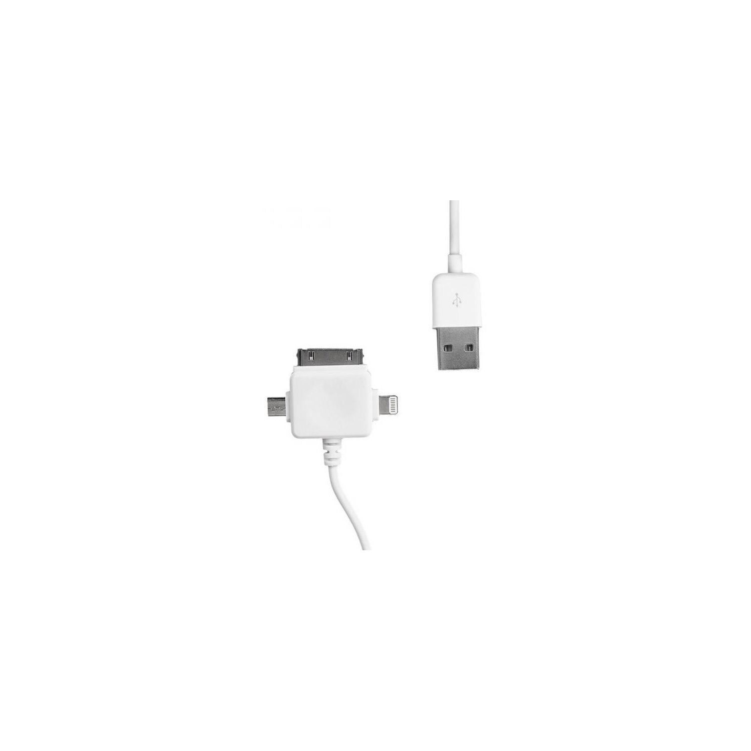Kabel WHITENERGY USB - microUSB/iPhone4/iPhone5 1m