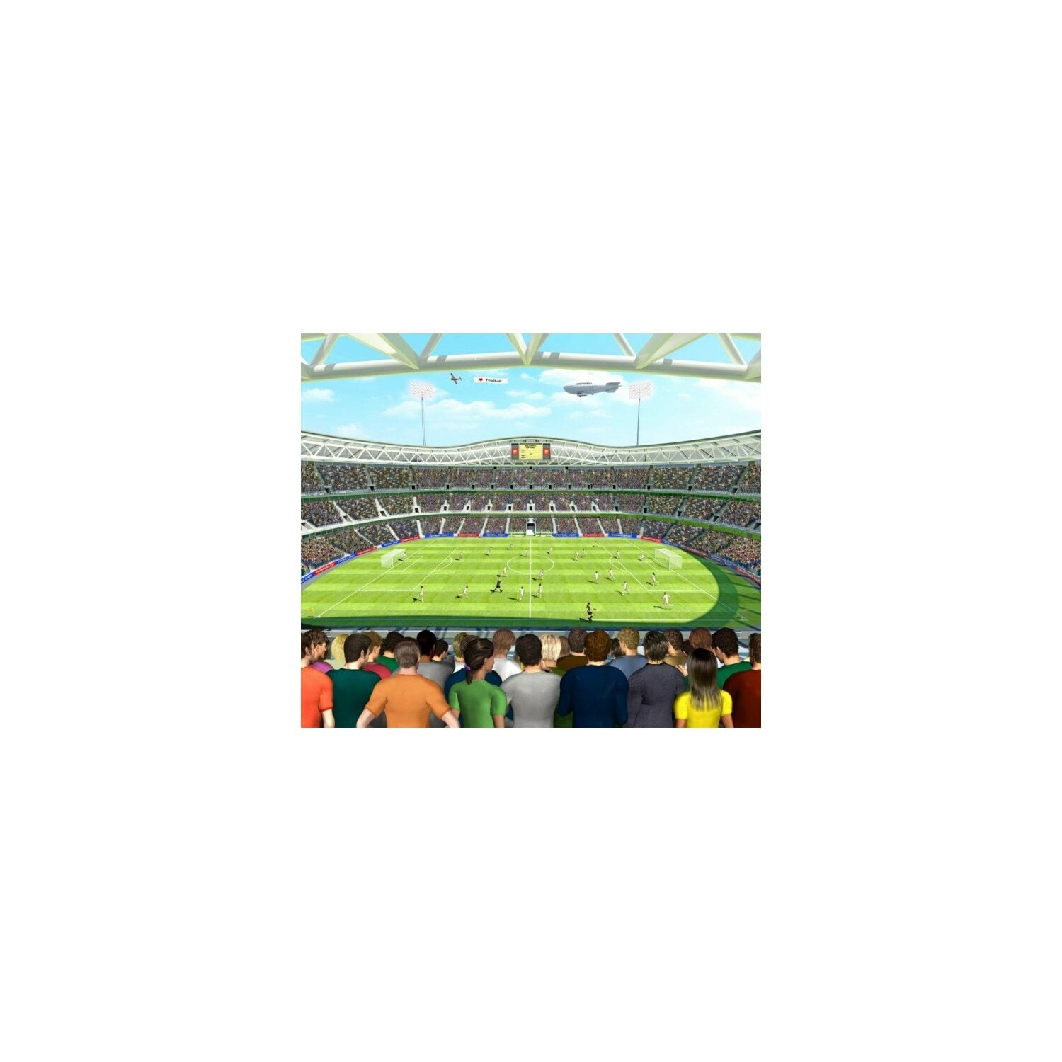 Fototapeta WALLTASTIC 41769 Football Crazy 243,84x304,80cm