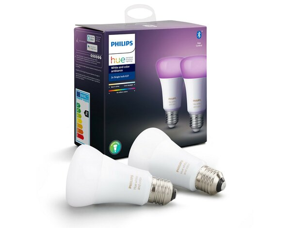 Żarówka LED PHILIPS HUE White and Color A60 E27 9W Bluetooth Zigbee 2szt
