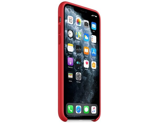 Etui APPLE Silicone Case do iPhone 11 Pro Czerwony MWYH2ZM/A